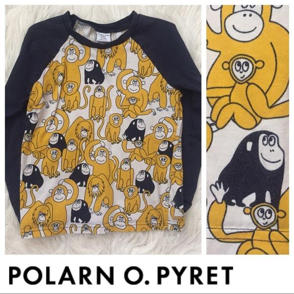 c53183cd Polarn O. Pyret Shirts & Tops | Polarn O Pyret Monkey Tee | Poshmark
